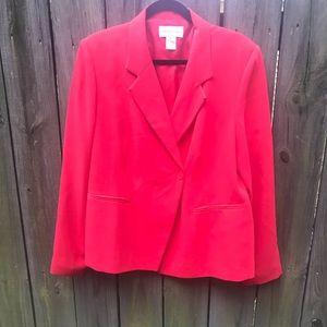 Bloomingdales Red Blazer
